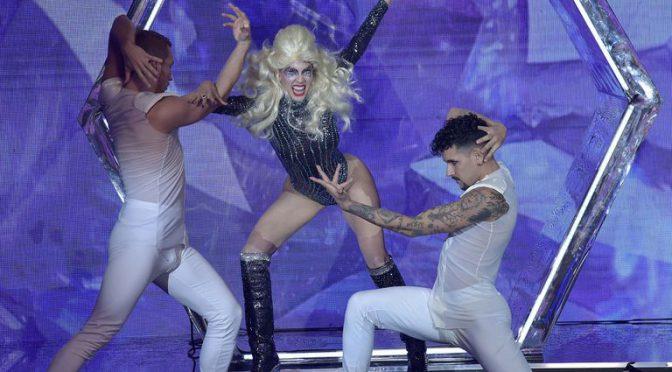 Barby Franco imitó a Lady GaGa y dividió violentamente al jurado